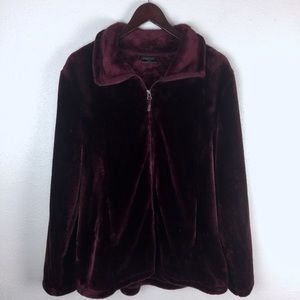 32 Degree Fuzzy Zip Up Sweater Jacket